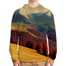 """Толстовка с полной запечаткой """"Альпы"""" - альпы, природа, горы, осень, деревья"""