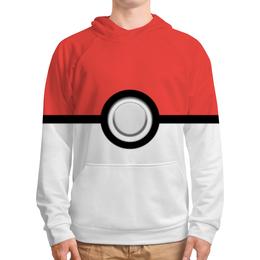 """Толстовка с полной запечаткой (Мужская) """"Покемон"""" - pokemon, покемон, покебол"""
