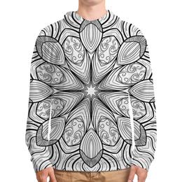 """Толстовка с полной запечаткой """"Мандала"""" - мандала, орнамент, абстракт, линии, цветок"""