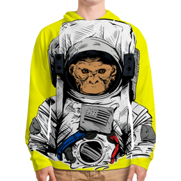 """Толстовка с полной запечаткой """"Обезьяна космонавт"""" - космос, обезьяна, звездные войны, космонавт, скафандр"""