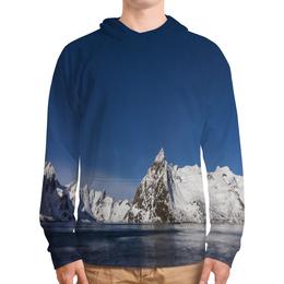 """Толстовка с полной запечаткой """"Север"""" - снег, горы, океан, север, льды"""