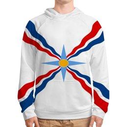"""Толстовка с полной запечаткой """"Толстовка Ассирийский флаг"""" - флаг, символ, ассирийский флаг, ассирийский, родной"""