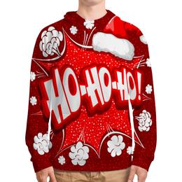 """Толстовка с полной запечаткой """" Ho Ho Ho"""" - новый год, зима, красный, рождество, санта"""