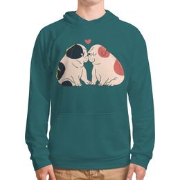 """Толстовка с полной запечаткой """"Мопсики"""" - dog, собака, pug, cute, мопс"""