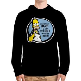 """Толстовка с полной запечаткой """"Мудрость Гомера Симпсона"""" - simpsons, homer, прикольные, гомер симпсон, симпспоны"""