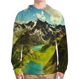 """Толстовка с полной запечаткой """"Италия"""" - мир, страны, природа, горы, озеро"""