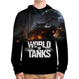 """Толстовка с полной запечаткой """"World of Tanks"""" - игры, world of tanks, танки, wot"""