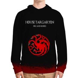 """Толстовка с полной запечаткой """"House Targaryen"""" - сериал, игра престолов, game of thrones, targaryen, таргариены"""