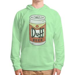 """Толстовка с полной запечаткой (Мужская) """"Пиво """"Duff"""""""" - прикольные, пиво, симпсоны, duff, дафф"""