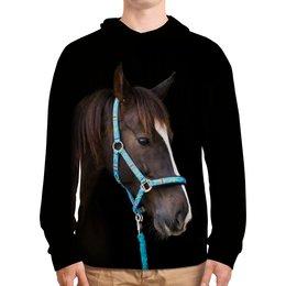 """Толстовка с полной запечаткой """"Лошадь"""" - животные, лошадь, природа, конь, грива"""