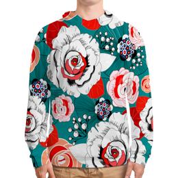 """Толстовка с полной запечаткой """"Fashion Flower"""" - цветы, flower, природа, красные, розы"""