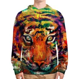 """Толстовка с полной запечаткой """"Зверь"""" - животные, тигр, арт, дизайн"""