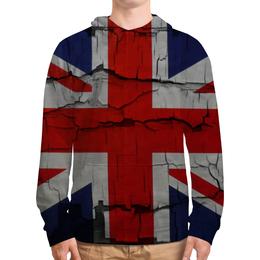 """Толстовка с полной запечаткой (Мужская) """"Британский Флаг"""" - великобритания, great britain, union jack"""