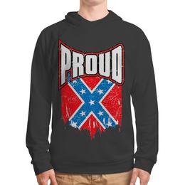 """Толстовка с полной запечаткой (Мужская) """"Флаг Конфедерации США"""" - америка, флаг, сша, флаг конфедерации, proud"""