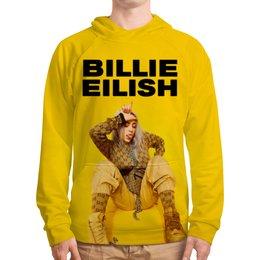 "Толстовка с полной запечаткой ""Billie Eilish"" - bad guy, billie eilish, билли айлиш, bellyache, when we all fall asleep where do we go"