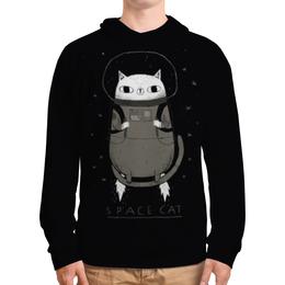 """Толстовка с полной запечаткой """"Space cat"""" - кот, space, cat, космос, cosmic"""