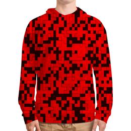 """Толстовка с полной запечаткой """"красный камуфляж"""" - форма, камуфляж, военные, защитник, маскировка"""