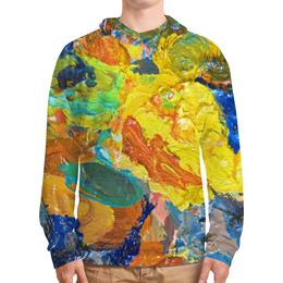 """Толстовка с полной запечаткой (Мужская) """"""""Краска на палитре"""""""" - искусство, разноцветный, яркий, художник, пестрый"""