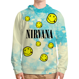 "Толстовка с полной запечаткой ""Nirvana"" - гранж, nirvana, kurt cobain, курт кобейн, нирвана"