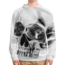 """Толстовка с полной запечаткой """"Skull - 24"""" - skull, череп, арт, metal, день рождения"""