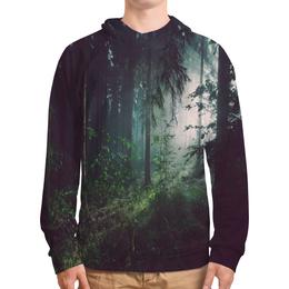 """Толстовка с полной запечаткой """"Природа леса"""" - лес, деревья, природа, пейзаж, трава"""