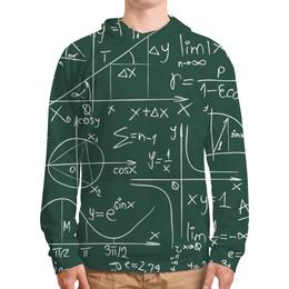"""Толстовка с полной запечаткой (Мужская) """"Математика"""" - знаки, символы, математика, формулы, графики"""