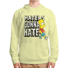 "Толстовка с полной запечаткой (Мужская) ""Haters gonna hate. Барт Симпсон"" - simpsons, прикольные, haters gonna hate, барт симпсон, симпспоны"