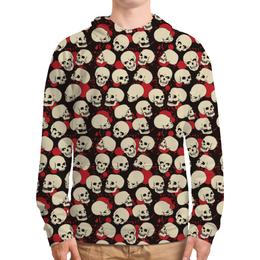 """Толстовка с полной запечаткой """"Крупные черепа"""" - skull, череп, арт, черепа, skulls"""