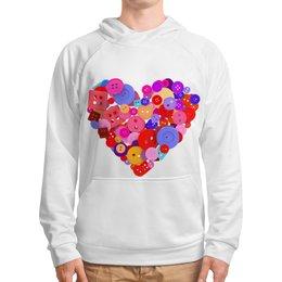 """Толстовка с полной запечаткой """"День всех влюбленных"""" - любовь, день святого валентина, валентинка, i love you, день влюбленных"""