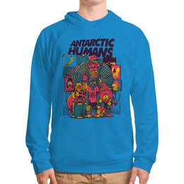 """Толстовка с полной запечаткой (Мужская) """"Antarctic Humans"""" - животные, обезьяна, рок музыка, рок группа, арт прикол"""