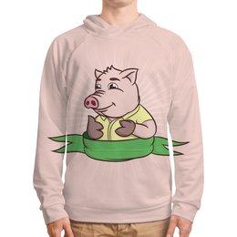 """Толстовка с полной запечаткой """"Свинка"""" - свинка, свинья, новыйгод"""