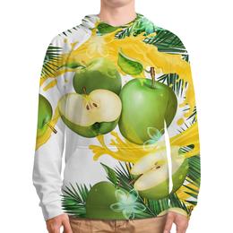 """Толстовка с полной запечаткой """"Яблоки"""" - фрукты, рисунок, яблоки"""