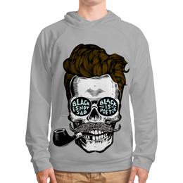 """Толстовка с полной запечаткой """"Череп с трубкой"""" - skull, bones, череп, кости, трубка"""