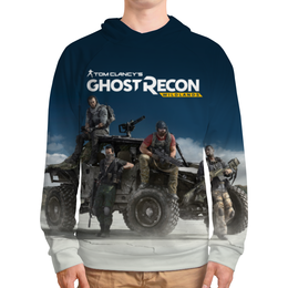 "Толстовка с полной запечаткой ""Tom Clancys Ghost Recon Wildlands"" - tom clancys ghost recon wildlands, ghost recon, tom clancy, игры, для геймеров"