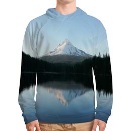 """Толстовка с полной запечаткой """"Отражение"""" - природа, горы, вода, пейзаж, скала"""