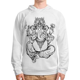 """Толстовка с полной запечаткой """"Ганеш"""" - ганеш, ганеша, буддизм, индия"""