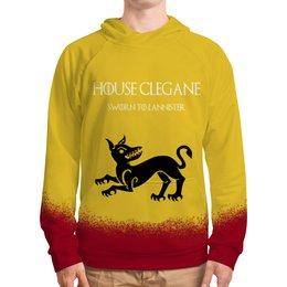 """Толстовка с полной запечаткой """"House Clegane"""" - сериал, игра престолов, game of thrones, clegane, клеганы"""