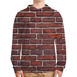 """Толстовка с полной запечаткой (Мужская) """"Кирпичная кладка"""" - арт, дизайн, стена, камень, кирпич"""