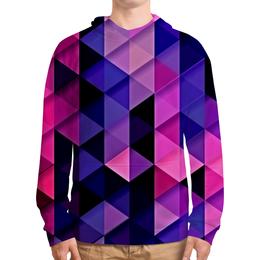 """Толстовка с полной запечаткой """"цветпарад"""" - абстракция, цветные, геометрия, abstraction, треугольники"""