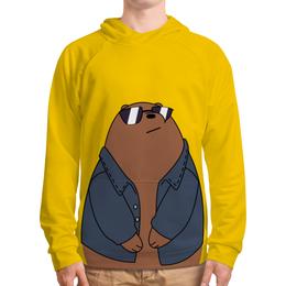 """Толстовка с полной запечаткой """"Медведь в крутых очках"""" - медведь, мультфильм, очки, смешной, куртка"""