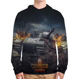 """Толстовка с полной запечаткой (Мужская) """"World of Tanks"""" - игры, world of tanks, танки, wot"""