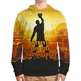 "Толстовка с полной запечаткой ""Impossible"" - for, impossible, the, strive"