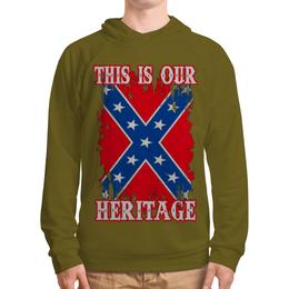 "Толстовка с полной запечаткой ""Флаг Конфедерации США"" - война, америка, флаг, сша, флаг конфедерации"