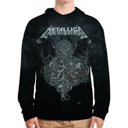 """Толстовка с полной запечаткой (Мужская) """"Metallica"""" - рок, metallica, группы, метал, металлика"""