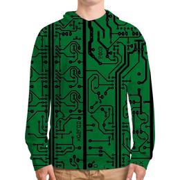 """Толстовка с полной запечаткой """"Электроника"""" - дизайн, техника, наука, электроника"""
