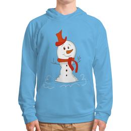 """Толстовка с полной запечаткой """"Снеговичок"""" - новый год, зима, снеговик, снежинки, праздник"""
