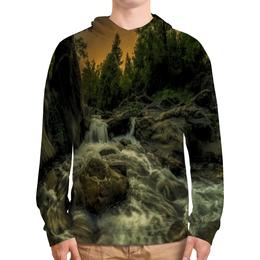 """Толстовка с полной запечаткой """"Природа"""" - лес, природа, закат, река, озеро"""