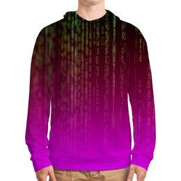 """Толстовка с полной запечаткой """"Матрица"""" - компьютеры, матрица, код, программа, пароль"""