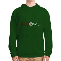 """Толстовка с полной запечаткой """"BAD OWL - Green Grass"""" - зеленая толстовка, зеленая толстовка с капюшоном"""