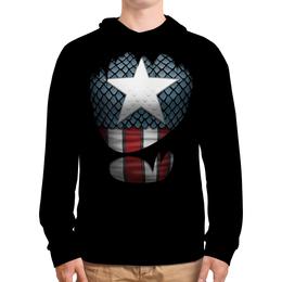 """Толстовка с полной запечаткой """"Капитан Америка"""" - супергерои, marvel, марвел, капитан америка"""